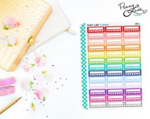 Daily Habit Sidebar Stickers // CM02 //  Removable Matte Planner Stickers
