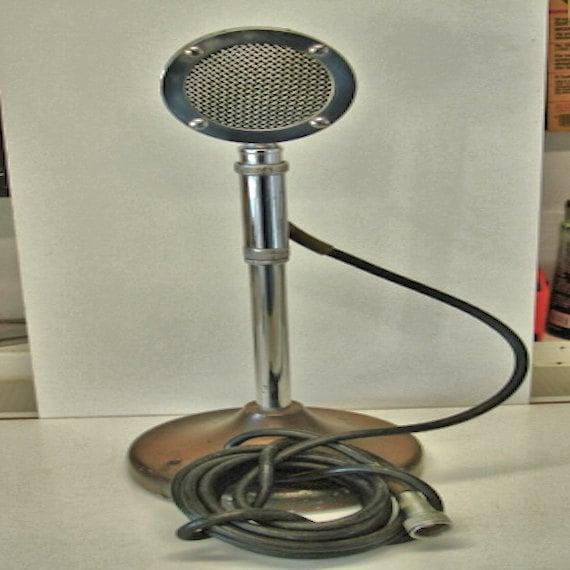 vintage astatic microphone model d 104 and e 5 stand. Black Bedroom Furniture Sets. Home Design Ideas
