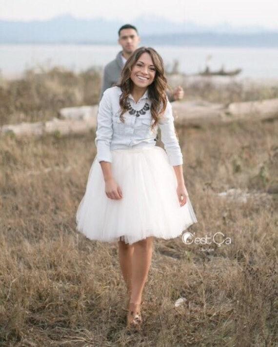 e2356e5dad cestcany - Clarisa - White Tulle Skirt, Puffy Princess Tutu, Bridal ...