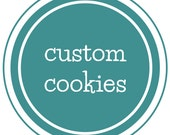 Custom Bubble Party Cookie Favors