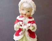 Sweet 1950's Porcelain Christmas Angel by Enesco