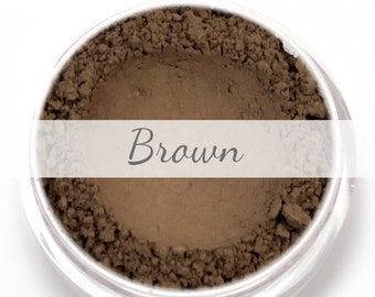 Brown Eyebrow Powder Sample - Vegan Mineral Eye Brow Powder Brunette Net Wt.4g Mineral Makeup Pigment