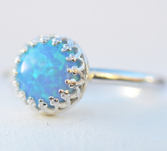 Items Similar To Opal Ring Exquisite Braided Opal: Items Similar To Sterling Silver Custom Blue Opal Lab