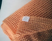 Solid Baby Blanket Afghan Throw Crochet - Coral - Ready To Ship
