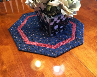 Handmade Fourth of July Patriotic American Flag table runner for holiday, home decor by MarlenesAttic