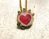 Heart in Hand, In the Palm of My Hand Necklace, My Heart Necklace, Gold Plate Necklace, Valentine's Day, Holiday Gift