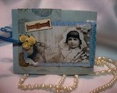 Vintage Easter Bunny and Sweet  Child ~~~  Heirloom Style Card