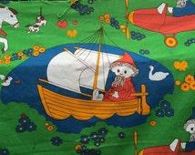 Fantastic 1970s Children's Fabric - Jon Blund