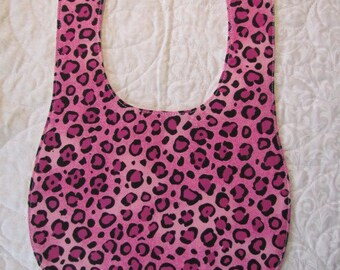 Pink Leopard Baby Bib Drooler - Marked Down