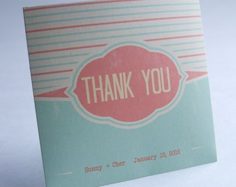 Vintage Striped Wedding or Birthday CD Sleeve Party Favor
