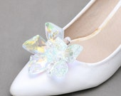 A Pair Of Star Shoes Clip,Crystal Aurora Shoes Clip,Wedding Bridal Shoes Clips,Wedding Shoes Decoration,Snowflake Shoes Clips