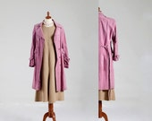 15% OFF VALENTINE SALE Vintage Classic Coachman Suede Coat in Amazing Hot Pink Lavender