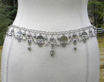 Smiley Skulls Chain Belt