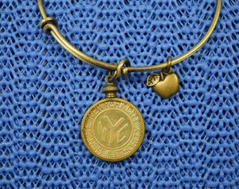 Antique Bronze NYC Transit Authority Token Bracelet-Expandable Bracelet