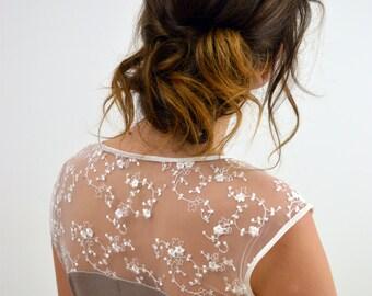 """wedding dress """"Ella"""" chiffon,tulle,lace,ivory"""