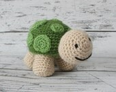Shelly the Turtle, Crochet Turtle Stuffed Animal, Plush Animal, Turtle Stuffed Toy, MADE TO ORDER