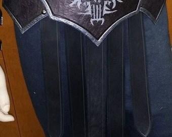 Leather Armor Fantasy Gladiator Skirted Belt