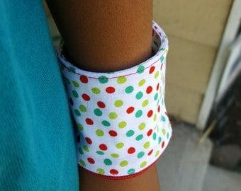 Red & Green Polka Dot Money Cuff - Wrist Wallet
