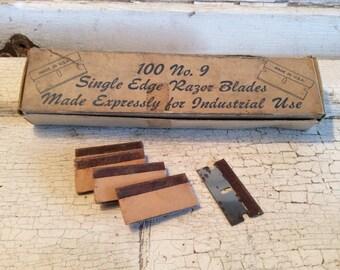 Vintage Razor Blades, Original Blades, New Old Stock, Blades, Razor Blades, Gasket Cutters, Reuse, Industrial,All Vintage Man
