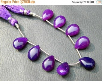 20%off. AAA Chalcedony Smooth Pear Briolette-Purple Chalcedony Size 14mm Approx.