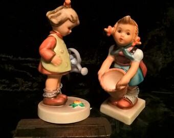 "Hummel Figurines ""Little Helper"" #73 & ""Little Gardener"" #74 Set of 2, Free Shipping"