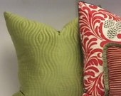 CHARTREUSE QUILTED SILK Pillow cover