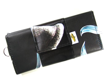 NEW 2016 Maleficent Banner Upcycled Vinyl Clutch Wallet