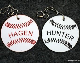 Bat Bag ID Tag, Baseball Bag ID tags, Identification Tags, Luggage Tags, Backpack ID Tag