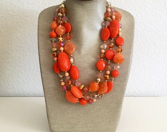 Limited Edition Necklace in Tangerine
