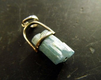 Pendant, silver, sterling silver, aquamarine, blue, nature, jewelry