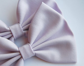 Peyton Hair Bow - Light Purple Solid Color Hair Bow with Clip