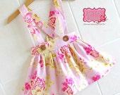 Pink Suspender Skirt  -Custom Order, girls skirts, beach, summer, girl, toddler, suspenders,