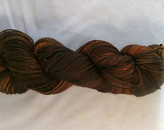 Orange Nova on MCN fingering weight yarn