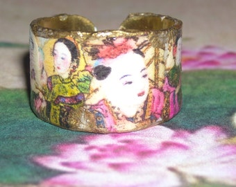 "Adjustable ring of Chinese inspiration "" Small Tales of China "" by Stampchrys"