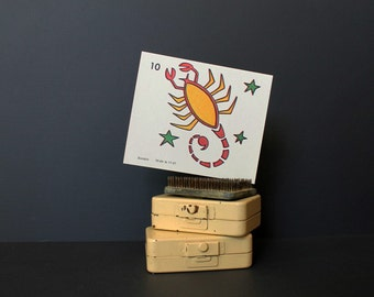 Vintage 1970s KopyKake Design Template Flashcard Scorpio Zodiac Sign Astrology