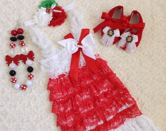 Girls Lace dress size 6-7 years old with headband
