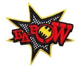 "Classic Batman Comic Effect ""Ka-Pow"" Retro Patch DC Superhero Iron On Applique"