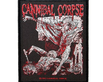 """Album Art """"Cannibal Corpse"""" Tomb of the Mutilated Patch Band Fan Sew-On Applique"""