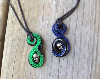Tentacle Necklace with Skull