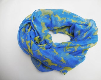 Lime horses, soft scarf.