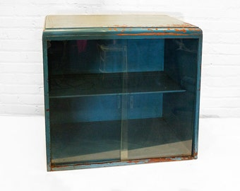 Vintage Display Case with Sliding Glass Doors, circa 1930