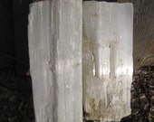 Sparkley Selenite - 2 large crystal Logs - ALL INCLUDED - free shipping usa