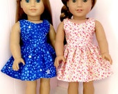 RESERVED American Doll Clothes Star Dress and Floral Dress