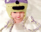 kids raccoon hat , crochet baby animal hat , handmade baby hat , kids winter hat