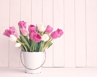 SALE, Tulip art, spring decor, pink, flower photography, large wall art, large art, french decor, girl nursery, nursery art, nature photo