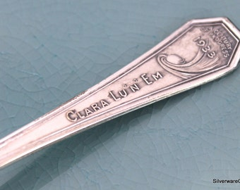 Commemorative Vintage SPOON - Radio Show First Soap Opera on Radio Clara Lu 'n' Em 1933 Spoons - WGN-AM Chicago