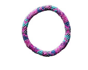Fruity Mix Crochet Seed Beads Bracelet, Handmade in Nepal,