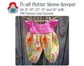 Sami Patterns: Flutter Sleeve Romper for Doll Sizes 8 to 18 Inches