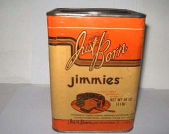 Jimmies Chocolate Sprinkles Vintage Tin - Bethlehem PA Jimmies Vintage Tin, 3 Pound Vintage Tin - Vintage Sprinkles Tin