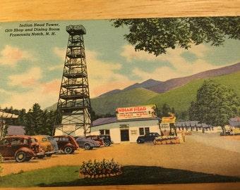 Indian Head Tower, NH Postcard 1954